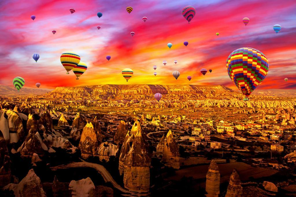 Cappadocia Hot Air Balloons Flying
