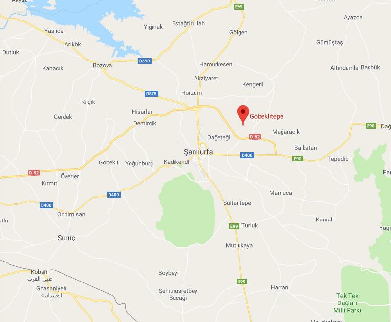 Location of Göbeklitepe