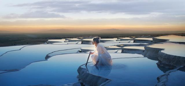 Pamukkale Traventines with Thermal Relaxation