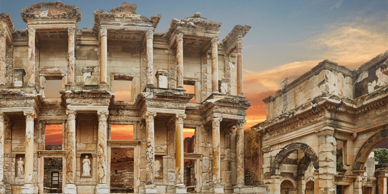 You will able to see the Celsus Library with the Ephesus tour from Pamukkale.